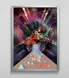 Galactic Giant:: AIM :: DESIGNSTUDIO for VISUALISATION and COMMUNICATION of INVENTIVE IDEAS #print #lightning #tiger #bolt