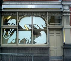 Cartlidge Levene - Christmas window #window #graphics #illustration