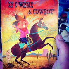 Instagram #illustration #cowboy #vintage #book