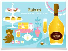 Eight Hour Day » Ruinart Champagne Illustrations #illustration