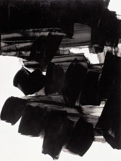 - bleu rouge noir blanc, Pierre Soulages #ink #pierre #soulages #art #drawing