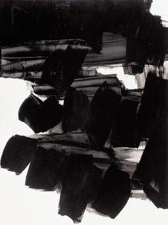 - bleu rouge noir blanc, Pierre Soulages