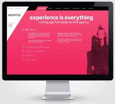 Kryptis web design concept by Paulius Papreckis #interactive #ux #design #& #ui #digital