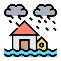 See more icon inspiration related to flood, storm, water, weather, ecology and environment, flooded house, floods, flooded, insurance, sea level, waves, house, home and security on Flaticon.