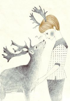 We feel the same by Madame Lolina #illustration #deer