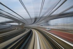 smooth curve | Flickr - Photo Sharing! #photos #yurikamome #appuru #speed #rail #high #pai