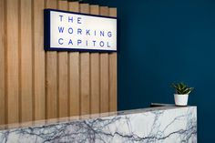 the working capitol branding #design #branding #colour #blue #simple