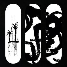 #Skateboard #SkateDesign #SkateboardDeck #Deck #PalmTree #Beach #Zen #Black