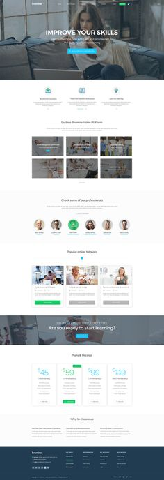 Bromine is a powerful Learning Management System template that offers 22 different pages and many shortcodes to build a creative website for