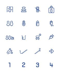 Hoshi Kodomo Otona Clinic on Behance #pictogram #iconography #icon #sign #glyph #iconic #picto #symbol #emblem