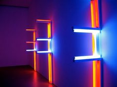 WE DARE SPEAK (A MOMENT ONLY): DAN FLAVIN #colourful #sculpture #fluorescent #lights #light #flavin