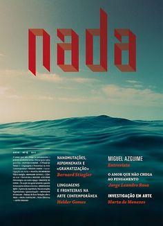 Nada Magazine cover - Martin Johansson #ocean #print #nada #typography