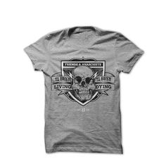 Image of Get Busy #skull #tshirt #grey #f&a