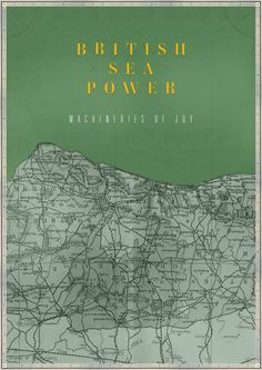 British Sea Power print by James Kirkup #british #sussex #brighton #power #south #james #sea #poster #lewes #england #kirkup #green