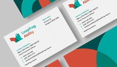 Leapfrog Ability Rebrand Business Card Logo Frog NDIS Health