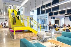 Vivid Office Space by Studio O+A color office playfulness design #office #design #space #work