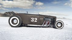The Bonneville Salt Flat on the Behance Network #render #bonneville #cars #car