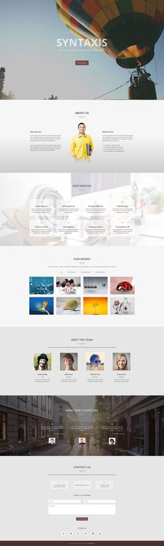 Syntaxis - One Page Parallax Template #onepage #template #responsive #bootstrap #html #parallax