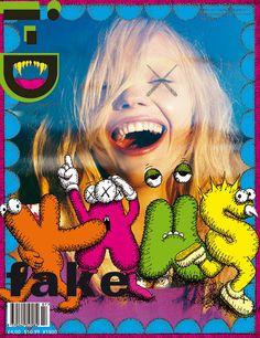 kaws i-d magazine cover