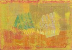 Double+Structure,+Orange+Scape+copy.jpg (image) #abstract #house #bina #structure #dan #painting #paper