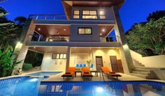 Luxury Villa with Private Pool in Koh Samui offers direct private access to beach and the most sensational ocean and island views of Ban Rak bay and Big Buddha. Amenities include infinity pool with sundeck and bubble spa, jacuzzi and more. Talk to Villa Getaways for more details!