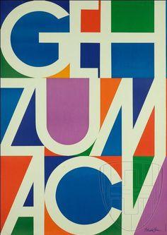 Donald Brun — Geh zum ACV (1960) #print #poster
