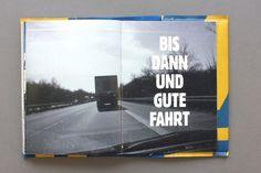 Mit Achtzig Sachen | ALEX KETZER #layout #book #typography
