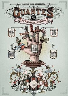 The Unusual Stores by Hendrick's Gin on the Behance Network #gin #vintage #hendricks #gloves #odd