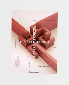 Ars Electronica Poster #3d #render #electronica #design #book #composition #cover #identity #are #poster #logo #logotype #covers #grid #cartel #innovation #graphic #experimental #system #art #street #ars #editorial #magazine