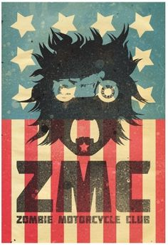 http://solo71.tumblr.com/ #zombies #vector #poster #motorcycles