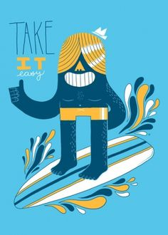Easy Like Summer Morning Art Print by Zack Forer | Society6 #surfing #illustration