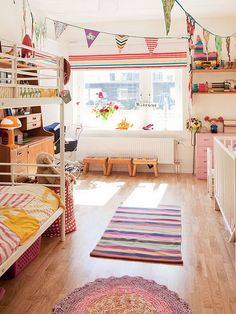 30+ Beautiful Bunk Room Ideas for Kids #bunk room #kids #bedroom