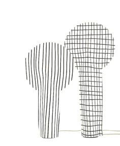Paper Lamp With a Strong Graphic Effect paper lamp 2 #lamp #design #light #lighting #paper