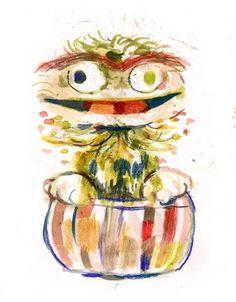 tumblr_lxmdguTTif1qjmik5o1_1280.jpg (700×895) #sesame #water #oscar #illustration #colors #street #schick #andrew