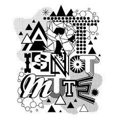 MWM Graphics | Matt W. Moore #type #white #black #and