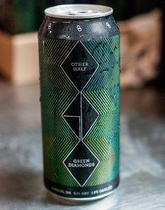 otherhalfvert #beer #aluminum #lines #other #packaging #alcohol #diamond #tall #half #can #green