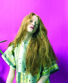 10269566_754730511226653_2259538263216815275_n #pink #photo #hair #portrait #fashion #ginger #lipstick