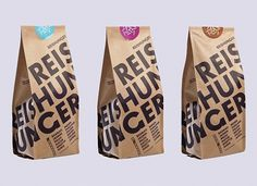 Reishunger : Lovely Package . Curating the very best packaging design. #print #design #typography #packaging #sticker #craft #rice