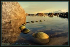 Land and stone art by Gerry Barry #land #landscape #photography #art #eco #tone #beach