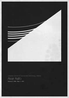 Alvar Aalto | University School of Science and Technology, Helsinki | Shiro to Kuro #architecture #poster