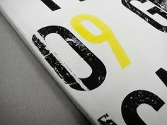 Graphic Production on Behance #nine #photocopy #zero #craft #handmade #number