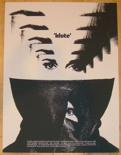"""Klute - silkscreen movie poster (click image for more detail) Artist: Jay Shaw (Iron Jaiden) Venue: n/a Location: n/a Date: 2012 Edition: 100; signed and numbered Size: 18"""" x 24"""" Condition: Mint Notes"""