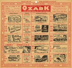 All sizes | Ozark Theatre Schedule Eldon, MO | Flickr - Photo Sharing! #cinema #poster