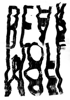 bearwolf (experimental typography) #scanned #meekay #typography