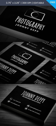Free Vintage Photography Business Card Template