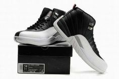 Nike Air Jordan 12 Size14 Size15 Big Shoes Black White #shoes