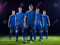 Soccer Players Team Group Isolated On Black Background Stock Photo, Picture And Royalty Free Image. Image 30503718.