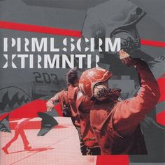 Primal Scream - XTRMNTR. Design by Julian House #primal #design #graphic #cover #scream #music