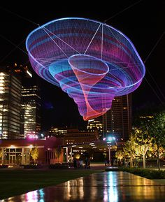 Giant Suspended Net Installations by Janet Echelman #sculpture #net
