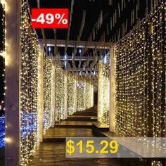 ZDM #3X3m #Curtain #lamp #string #300 #LED #String #Light #Wedding #Party #Garden #Bedroom #Interior #Decoration